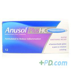 Anusol Plus HC Suppositories 12