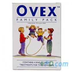 Ovex Family Pack Contains 4 Single-Tablet Treatments