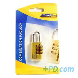 Travel Blue Combination Padlock - Single
