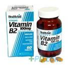 Healthaid Vitamin B2 (riboflavin) 100mg Prolonged Release - 60 Tablets