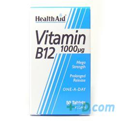 Healthaid Vitamin B12 (cyanocobalamin) 1000ng - Prolonged 50 Tablets