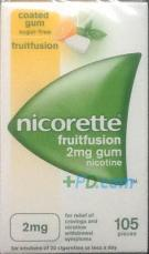 Nicorette Fruitfusion Gum 2mg x 105