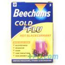 Beechams Cold & Flu Hot Blackcurrant 5 Sachets