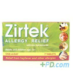 Zirtek Allergy Relief - 7 Tablets