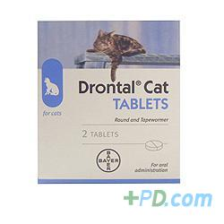 Drontal Cat - 2 Tablets buy online from Pharmplex Direct